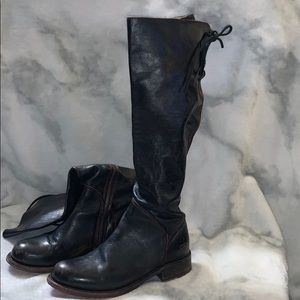 Bed Stu tall black leather boots